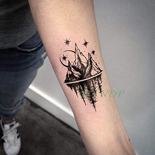 tzxdbh Pegatinas para Tatuajes temporales a Prueba de Agua Moon ...