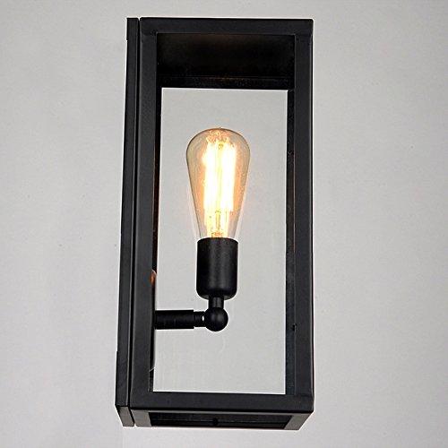 JiaYouJia Square Black Single-Light Outdoor Wall Lantern