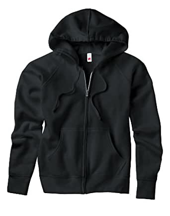 Hanes 8 oz 80/20 Ladies' Full Zip Hoodie in Black - Small