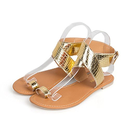 Price comparison product image Haoricu Clearance Flat Shoes Women Cross Belt Rome Sandals Strappy Gladiator Slipper Low Flat Flip Flops Beach Shoes (US:6.5