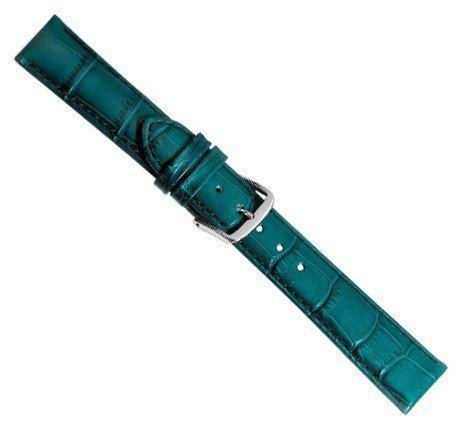 Louisiana Print XL Ersatzband Uhrenarmband Leder Petrol 21904S-XL, Anstoß:14 mm