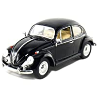 """6 unidades en la caja: 6½ """"1967 Volkswagen Classic Beetle 1:24 Scale (Negro /Azul /Rojo)"""
