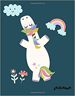 Sketchbook Cute Unicorn Kawaii Sketchbook For Girls 110 Pages Of