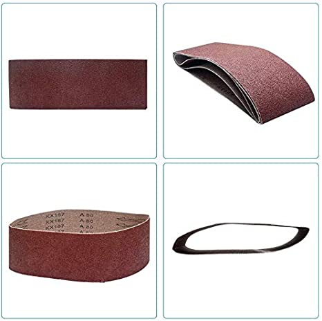 Correas de lijado de /óxido de aluminio para carpinter/ía lijadora de cintur/ón Supertool pulido de metal 5 unidades, grano 40