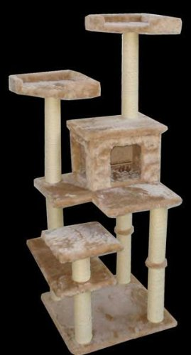 Majestic MAJ66C 66 Inch Casita Cat Tree – Fur Covering, My Pet Supplies