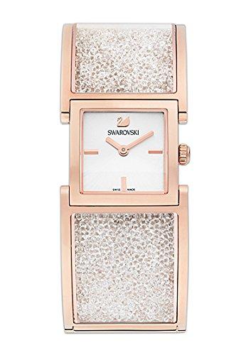 Swarovski Crystalline 5027138 Rose Gold Paved Bangle Bracelet Watch