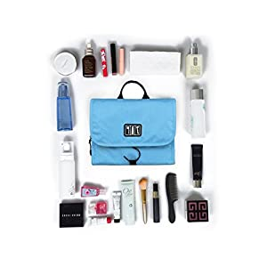 BAGSMART Hanging Toiletry Kit Travel Bag Cosmetic Carry Case Makeup Organizer with Breathable Mesh Pockets