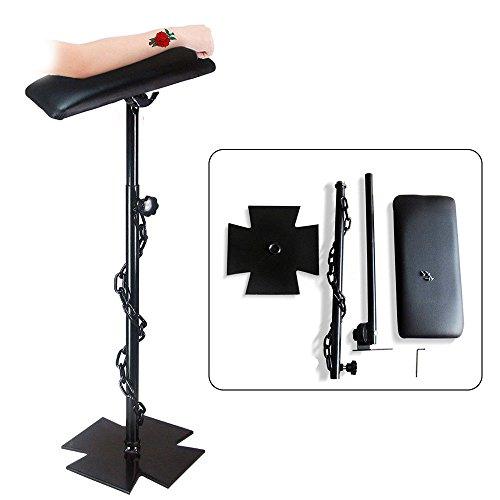 Tattoo Armrest Foldable Foam Pad Arm Bar Leg Rest Studio Stand Adjustable Height PVC ()