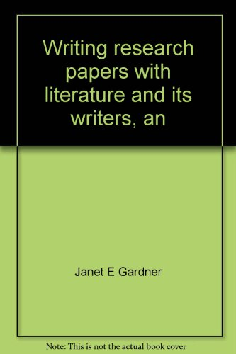 Writing research papers with literature and its writers, an introduction to fiction, poetry, and drama, Ann Charters, Sa