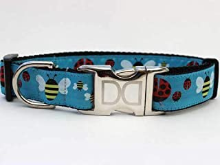 product image for Lady Bugs and Bumble Bees Custom Dog Collar (Optional Matching Leash Available) XXS