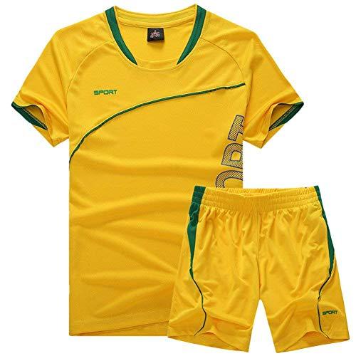 マークダウンできない水分QD-WST キッズ メンズ Tシャツ パンツ 2点セット スポーツウェア ジュニアサッカーウェア 子供トレーニング 上下セット 親子服 ショートパンツ ポケット付き