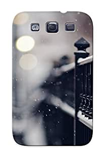 Catenaryoi High-end Case Cover Protector For Galaxy S3(snowy Iron Fence)