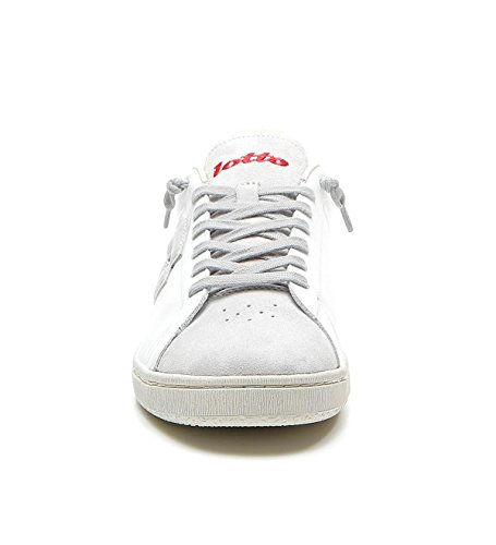 Uomo Sneakers White Ss T4561 Lotto Red Front 44 18 Pelle Autograph Aax1wSn