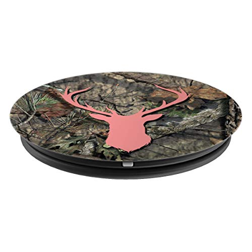 Deer Buck Hunting Women Pink Brown Camouflage Background - PopSockets Grip and Stand for Phones and Tablets