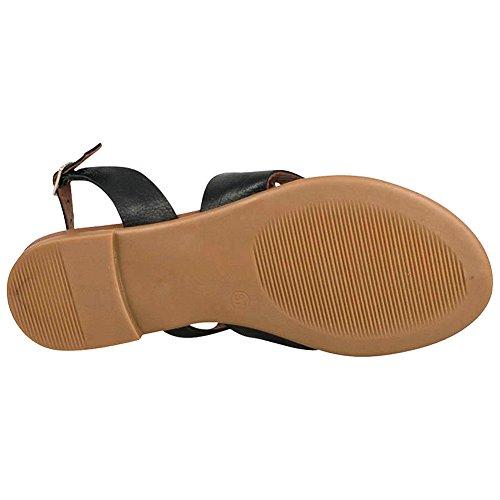 Miz Mooz Women's Rio Gladiator Sandal,Black,38 EU/7.5 M US