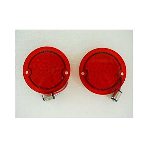 United Pacific 1954-1959 Chevy Truck Stepside Red LED StopTurn Tail Lights / 1955 56 57 - Chevy Stepside 1956