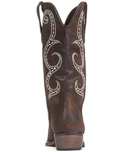Scarpe Da Cowboy Americane In Pelle A Punta Caviglia Stivali Da Cowboy A Metà Polpaccio Marrone