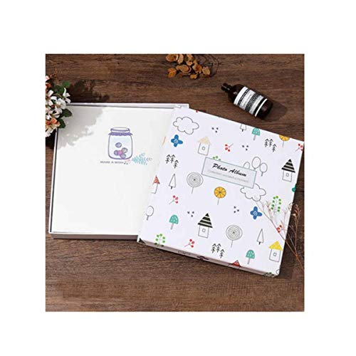 - Jinnuotong Photo Album, Laminating Paste Traditional Album, Suitable for Couples Time Baby Growth Time, (White Coffee, Can Accommodate Photos 101-200) Elegante (Color : 7)