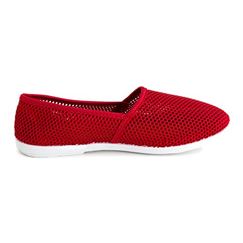 Kali Footwear Womens Canvas Slip on Mesh Shoes (Adults) Red Eh70L3A0