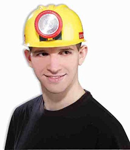 Miner Costume For Halloween - Forum Unisex Novelty Miner's Helmet with Light, Multi, One Size