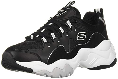 Blanco White 3 D'lites Zapatillas 0 Black Mujer Skechers aXqwzTxT
