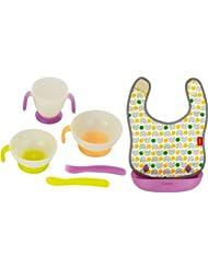 日亚:Combi康贝 宝宝餐具+口水巾 1岁以上宝宝礼品套装 好价2774日元(约¥180,不含运费)