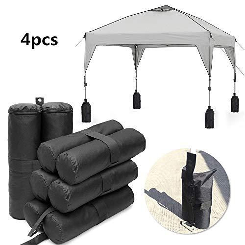 4 unidades de bolsas de arena para pesas de carpas, toldo de la tienda de campaña TJW, bolsa de peso para anclaje, carpas,...
