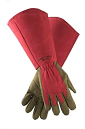 West County 054RXL Gauntlet Rose Glove, Ruby, Extra Large