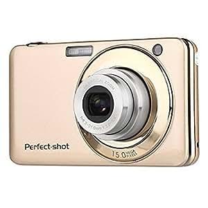 PowerLead PLDH17 2.7 Inch TFT 5X Optical Zoom 15MP 1280 X 720 HD Anti-shake Smile Capture Digital Video Camera(Gold)