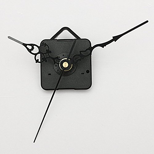 Black Hands DIY Quartz Wall Clock Spindle Movement Repair Parts
