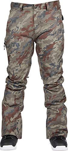 (Bonfire Surface Stretch Snowboard Pants Olive Camo Mens Sz M)