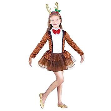 Partilandia Disfraz Reno Dancer Navidad para niña 7-9 años