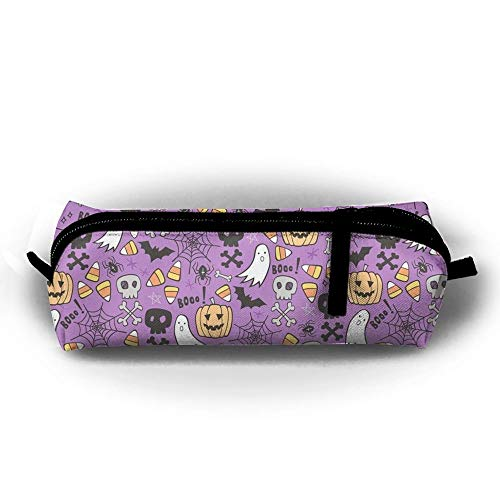 QQMIMIG Halloween Doodles with Skull Batman Pencil Case Cosmetic Bag Coin Pen Holder Stationery Storage Bag Zipper Makeup Storage]()