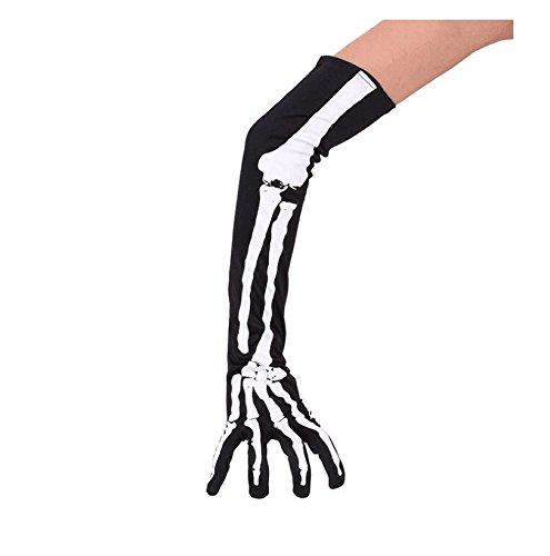 Halloween Skeleton Gloves (EBTOYS Halloween Skeleton Gloves Finger Gloves Halloween Costume Cosplay Party,1 Pair)