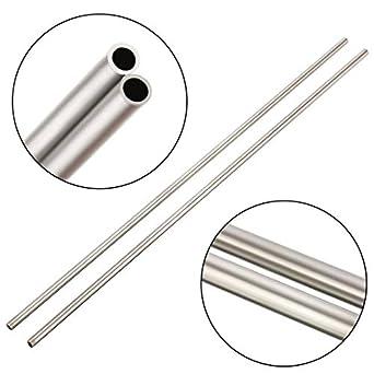 Amazon.com: 2 tubos de acero inoxidable 304 rectos para ...