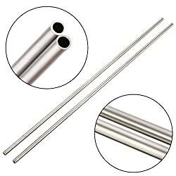 2 x 304 Stainless Steel Capillary Straight Tubing OD 4mm ID 3mm Length 250mm (Style 1)