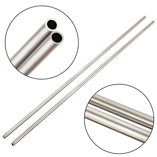 2 x 304 Stainless Steel Capillary Straight Tubing OD 4mm ID 3mm Length 250mm (Style -