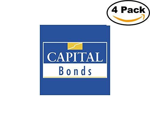 Capital Bond - Capital Bonds 4 Stickers 4X4 inches Car Bumper Window Sticker Decal