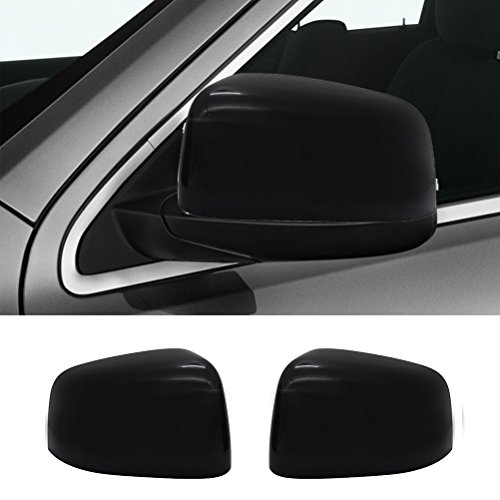 NINTE for 2011-2019 Jeep Grand Cherokee & Dodge Durango ABS Gloss Black Exterior Upper Top Half Mirror Covers