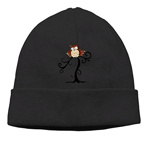 An Owl On A Tree Unisex Cool Hedging Hat Wool Beanies Cap Black By Carter Hill]()