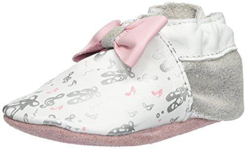 Robeez Baby Mädchen Ballet Dancer Krabbel-& Hausschuhe Blanc (Blanc Argent)