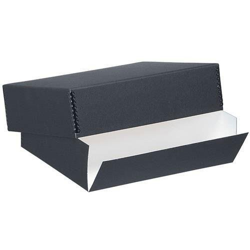 Lineco Archival 16'' x 20'' Print Storage Box, Drop Front Design, 16 1/2'' x 20 1/2'' x 3'', Exterior Color: Black by Lineco