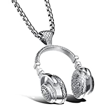 WYTong Fashion Punk Style Microphone Earphone Chain Necklace Hip Hop Pendant Necklace
