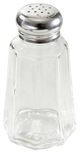 Winco G-306 2-Oz Glass Paneled Shaker W/ Mushroom Top - Salt & Pepper Shakers-G-306 - Glass Shaker Mushroom