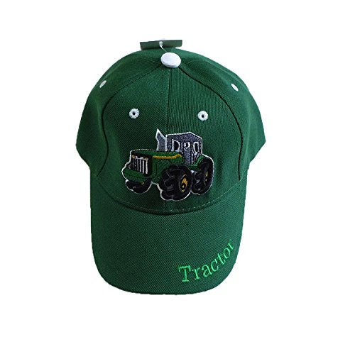 (R&M Children's Embroidered Tractor Baseball Cap, Available In Camouflage, Green, White or Black)