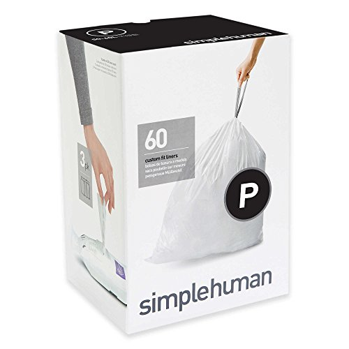 Simplehuman Code P 60-Count 13-16-Gallon Custom Fit Liners (Simplehuman Liner V compare prices)
