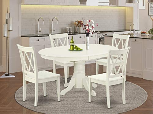 East West Furniture Kitchen table set 4 Excellent dining room chairs