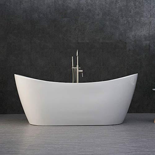 White Soaking Tub - WOODBRIDGE B-0017/BTA1517 Large 71