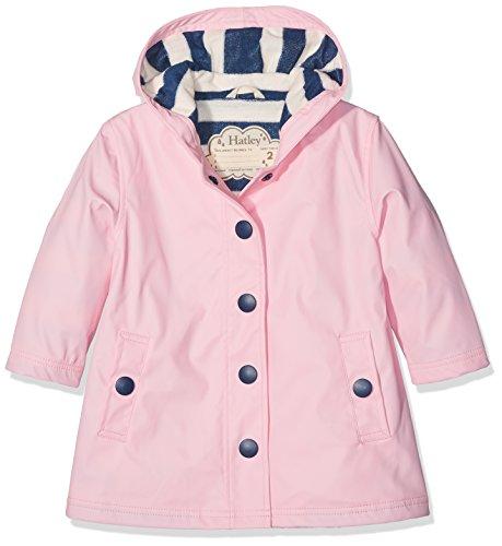 Hatley Little Girls' Splash Jackets, Classic Pink, 3