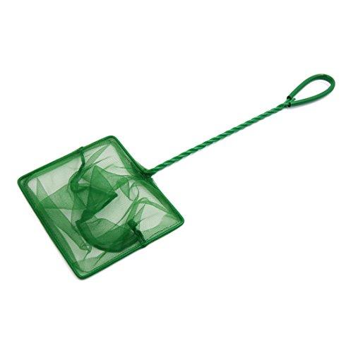- uxcell 6inch Green Plastic Coated Handle Fish Shrimp Skimming Net for Betta Aquarium